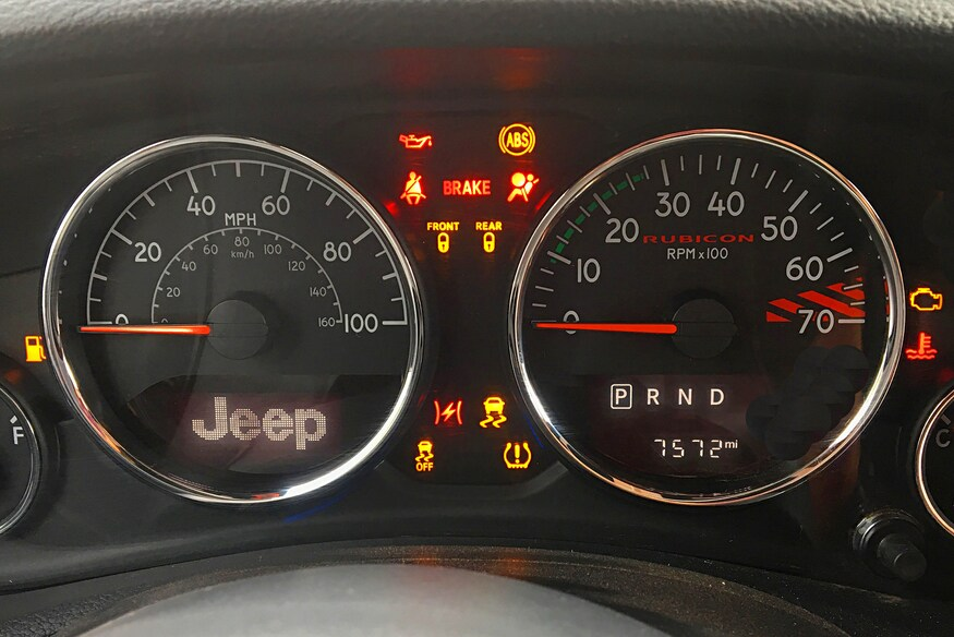 Jeep JK Dash Warning Lights: What They Mean - FOUR WHEELER ... Jeep Yj Tachometer Wiring Diagram on volkswagen golf wiring diagram, jeep grand cherokee fuse box diagram, 1991 jeep cherokee fuse box diagram, 91 silverado wiring diagram, 2007 jeep liberty wiring diagram, jeep zj wiring diagram, chevrolet impala wiring diagram, ford thunderbird wiring diagram, acura tl wiring diagram, ford bronco wiring diagram, volkswagen cabriolet wiring diagram, jeep cj7 wiring-diagram, cadillac xlr wiring diagram, jeep wrangler, chrysler crossfire wiring diagram, jeep starter wiring, jeep jk wiring harness, 95 jeep wiring diagram, suzuki xl7 wiring diagram, jeep to chevy wiring harness,