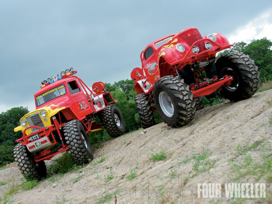 1952 Willys 1937 Ford Classic Monster Trucks Chariots Of Fire