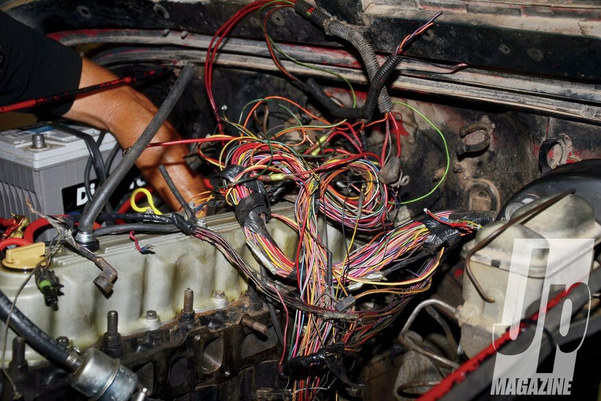 1988 Jeep Wrangler Wiring Harness Install - Feelin' Burned ... Jeep Wrangler Wiring Harness Replacement on jeep wrangler wiring connector, jeep transmission wiring harness, mazda rx7 wiring harness, 2004 jeep wiring harness, geo tracker wiring harness, pontiac bonneville wiring harness, jeep wrangler wiring sleeve, chrysler pacifica wiring harness, chevy aveo wiring harness, amc amx wiring harness, 2001 jeep wiring harness, jeep tail light wiring harness, jeep grand wagoneer wiring harness, honda cr-v wiring harness, jeep patriot wiring harness, dodge dakota wiring harness, chevy cobalt wiring harness, jeep wiring harness diagram, hummer h2 wiring harness, jeep wrangler trailer wiring,