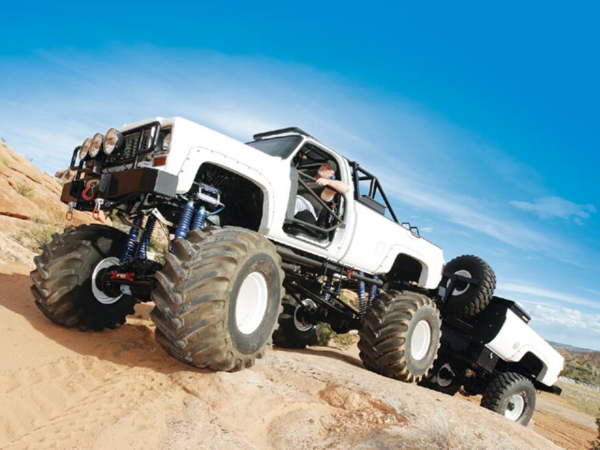 Chevy 4x4 monster truck built at a Denver 4x4 shop