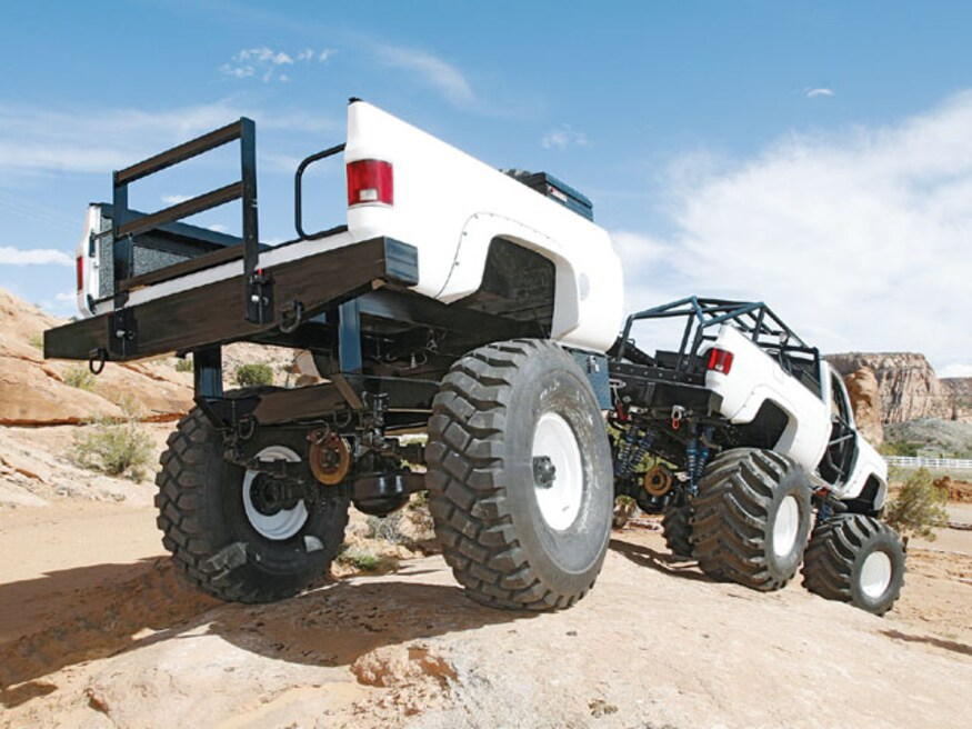 Off road truck trailer