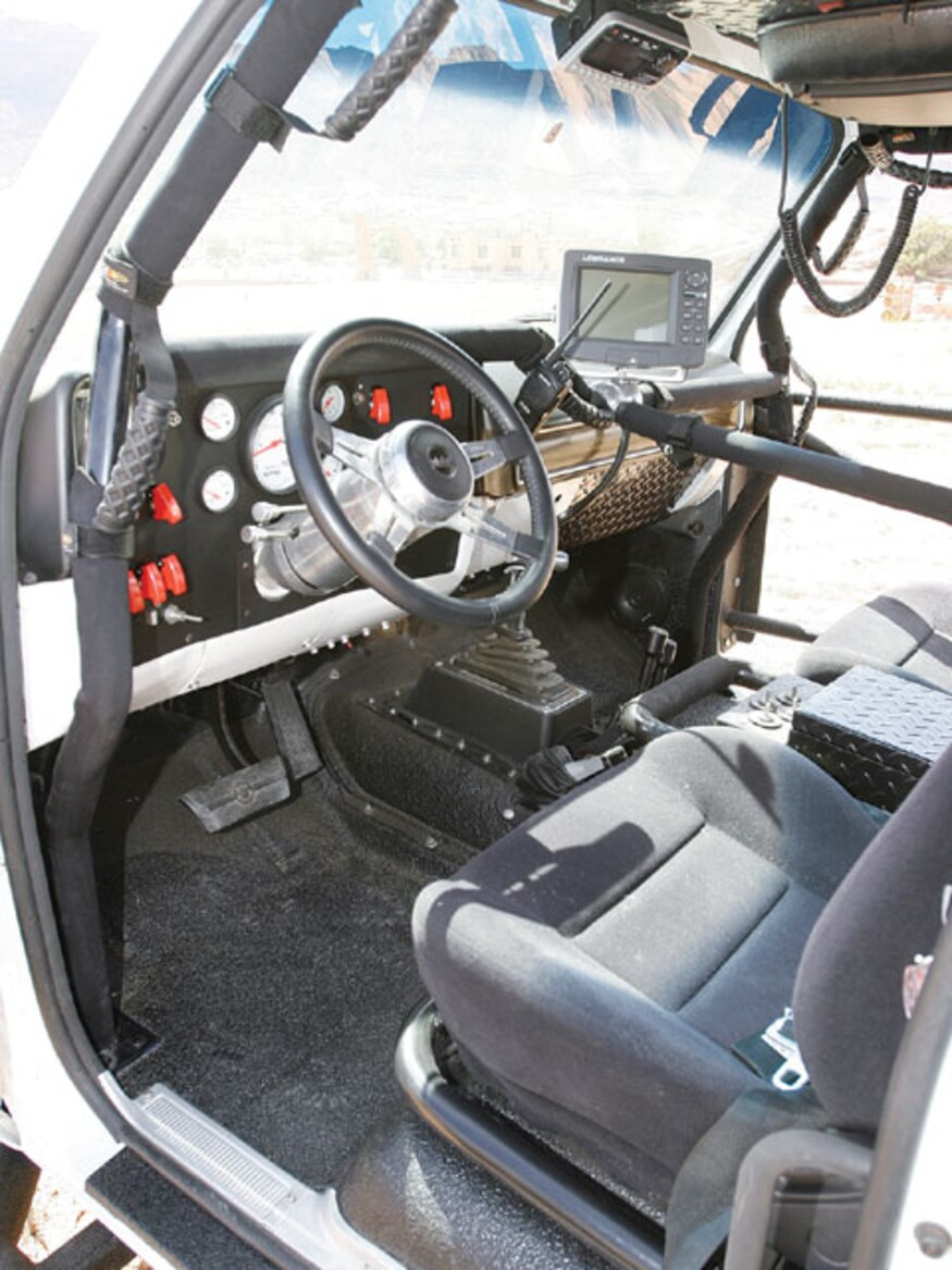 1974 Chevy Monster Truck interior