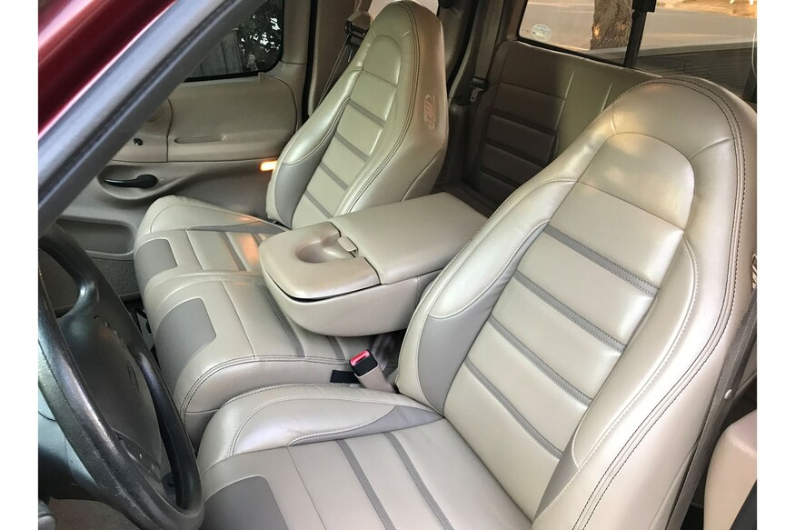 We Outfit Our 1997 Ford F 150 With Custom Lightning Leather Seats From Tmi