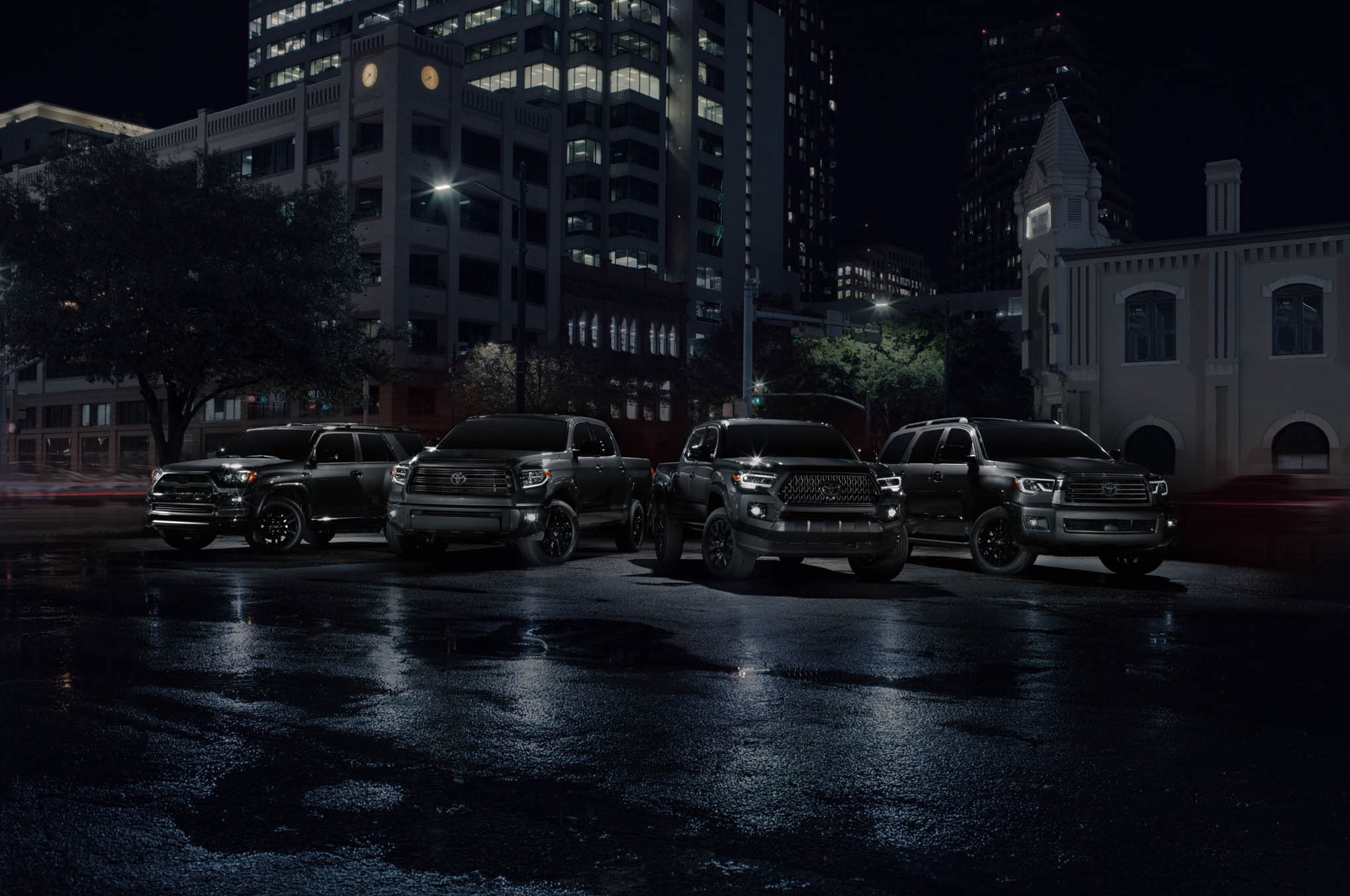 chicago auto show  u2013 2021 toyota sequoia  tundra  and tacoma nightshade edition