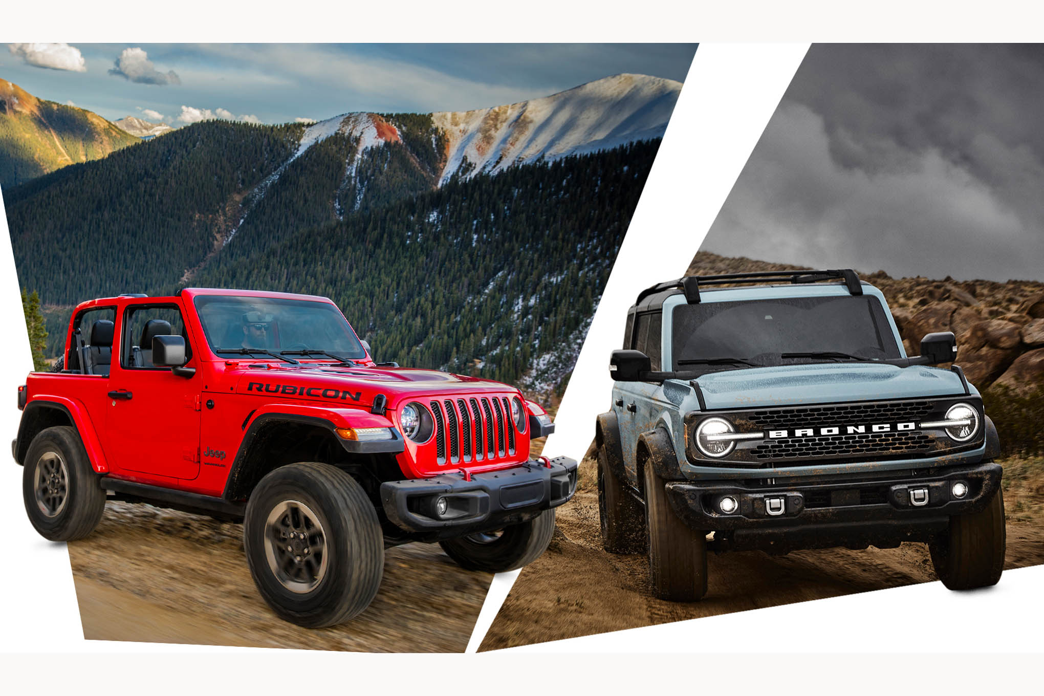 10 ways the jeep wrangler beats the 2021 ford bronco